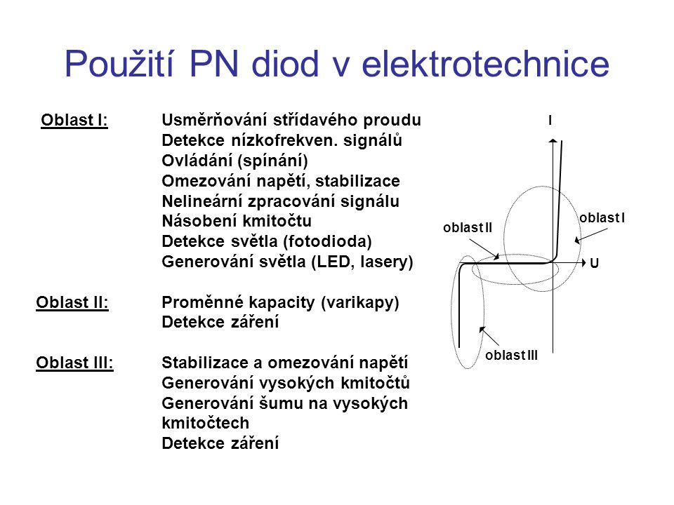 Použití PN diod v elektrotechnice