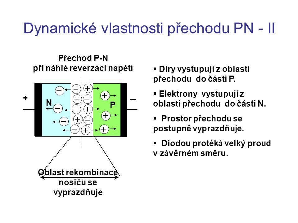 Dynamické vlastnosti přechodu PN - II