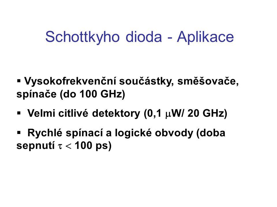 Schottkyho dioda - Aplikace