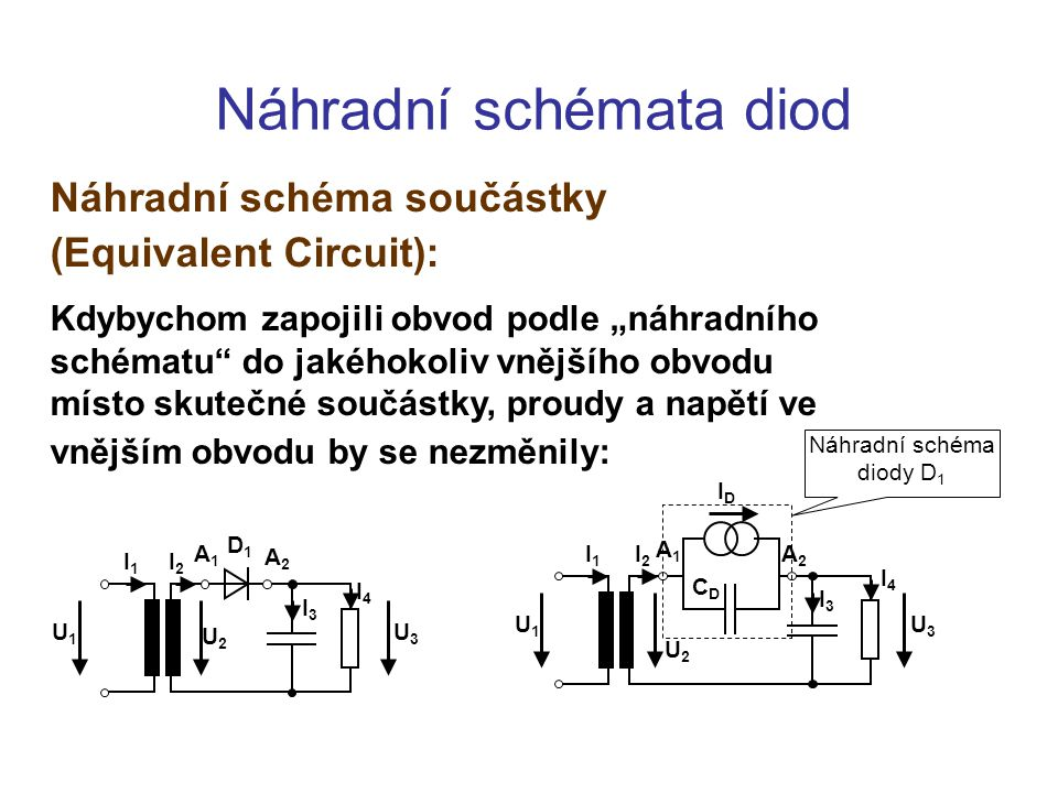 Náhradní schémata diod