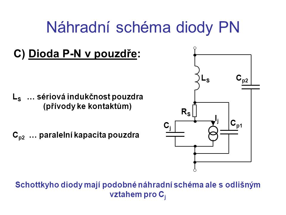 Náhradní schéma diody PN
