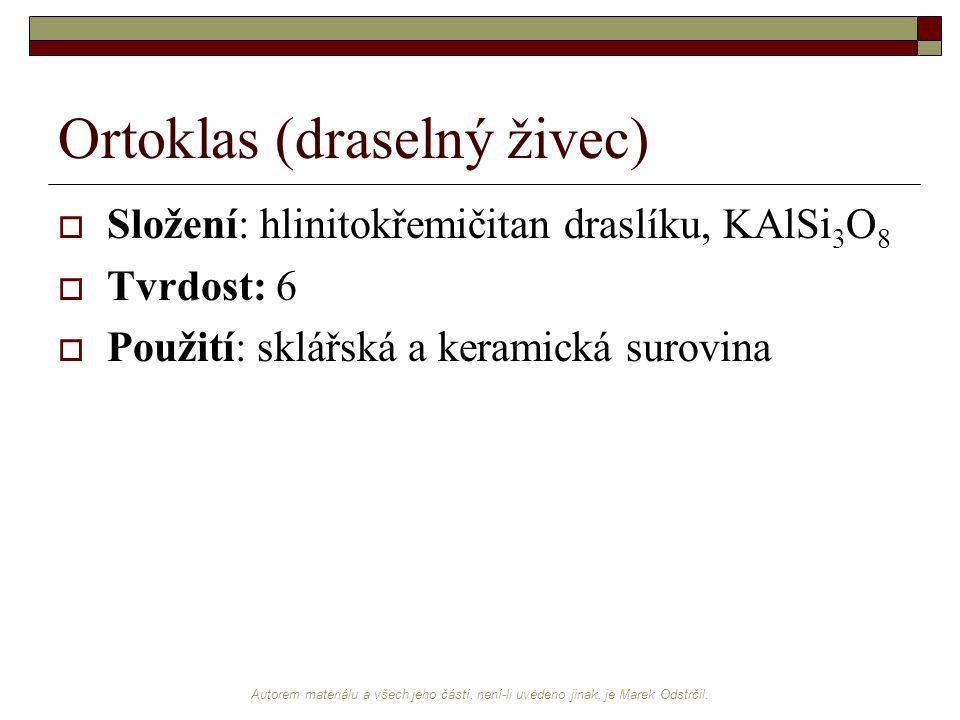 Ortoklas (draselný živec)