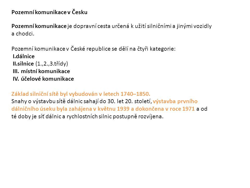 Pozemní komunikace v Česku