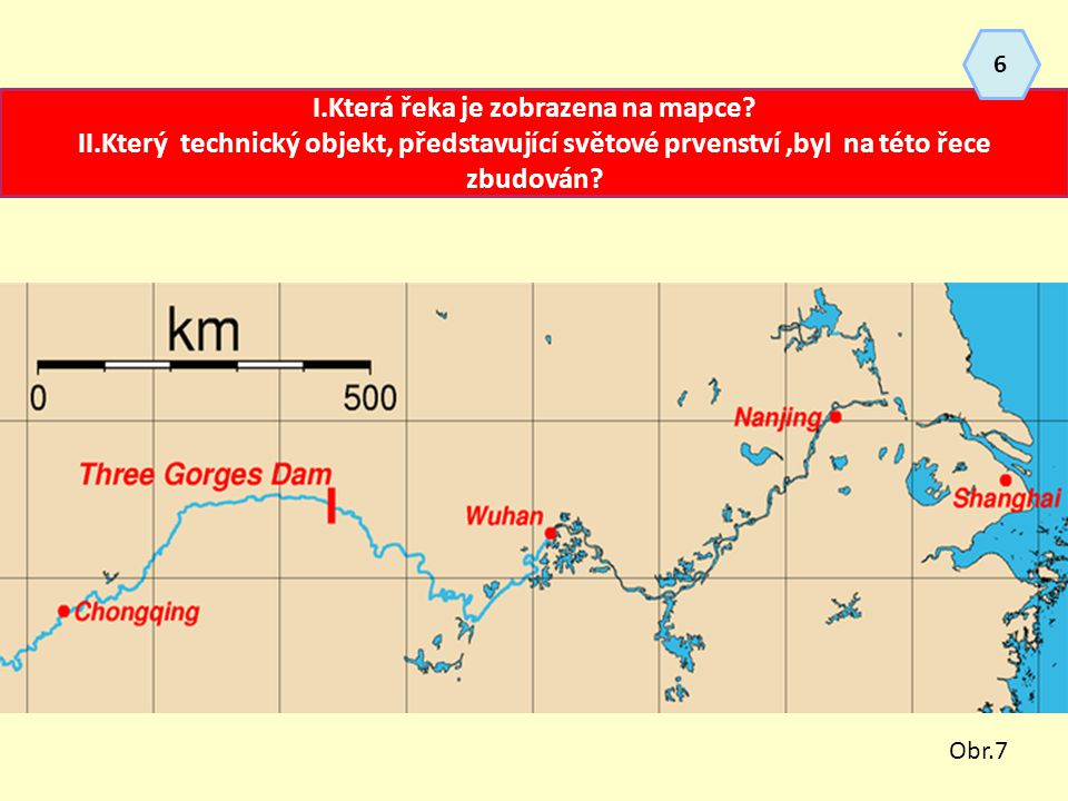 I.Která řeka je zobrazena na mapce