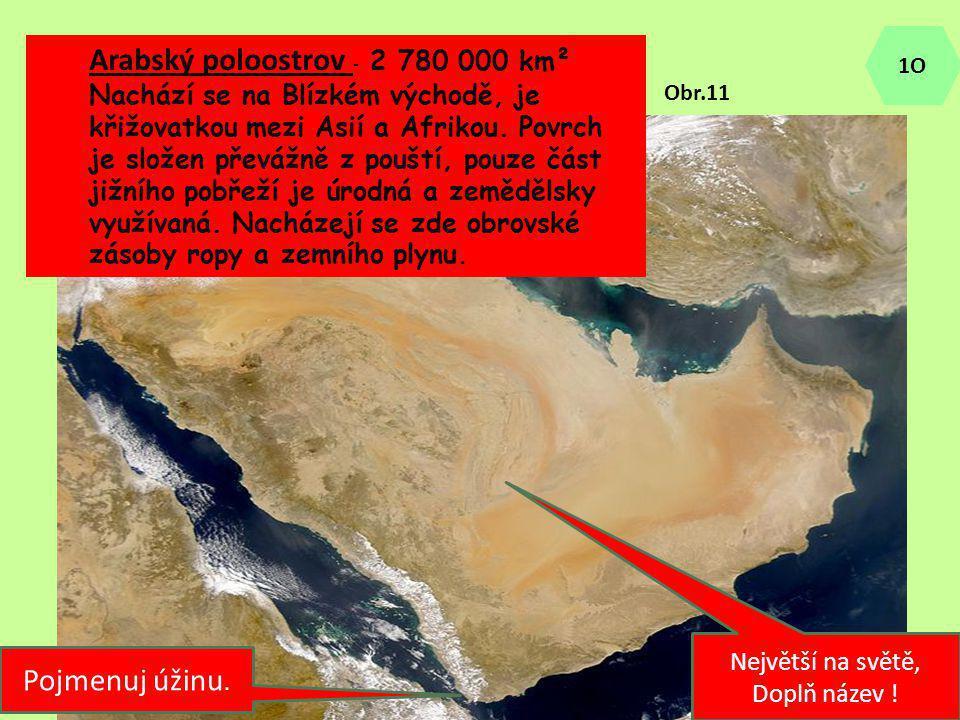 Arabský poloostrov - 2 780 000 km²