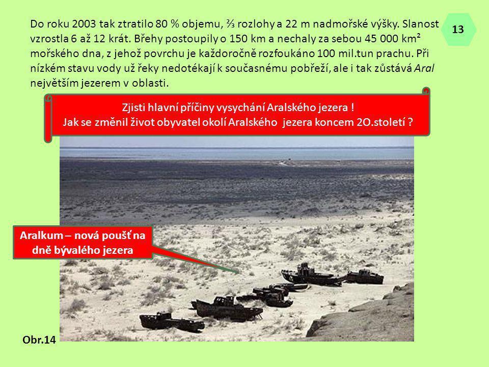 Aralkum – nová poušť na dně bývalého jezera