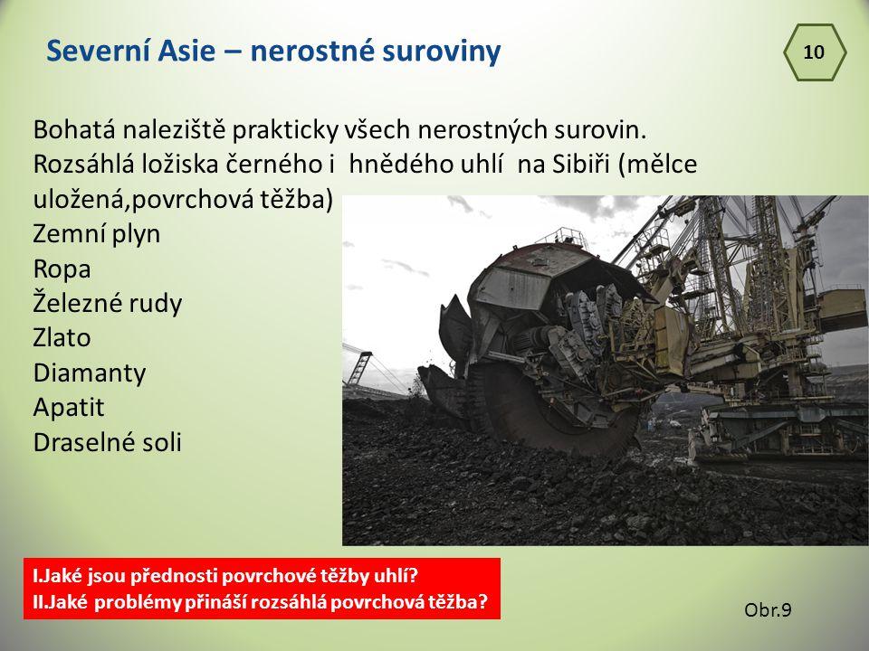 Severní Asie – nerostné suroviny