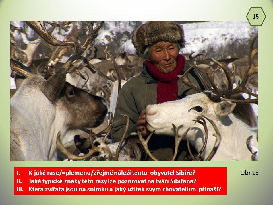 15 K jaké rase/=plemenu/zřejmě náleží tento obyvatel Sibiře Jaké typické znaky této rasy lze pozorovat na tváři Sibiřana