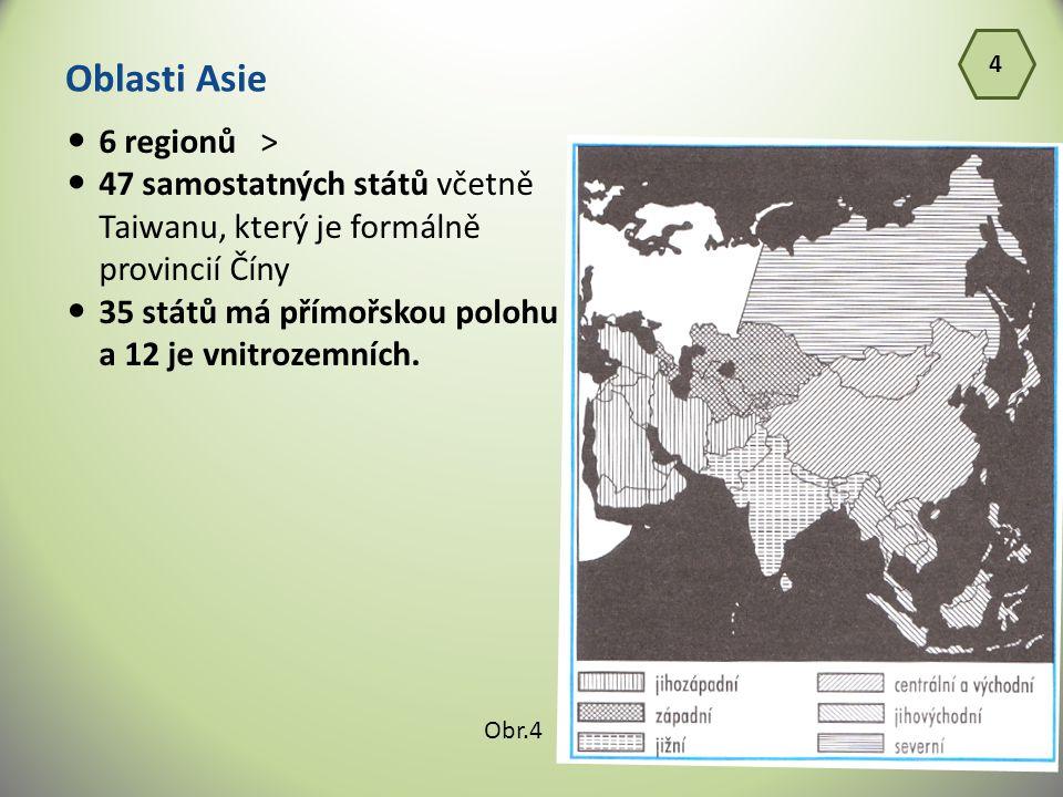 Oblasti Asie 6 regionů >