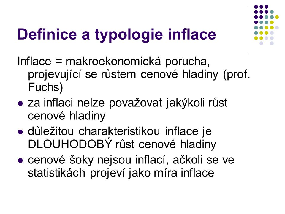 Definice a typologie inflace