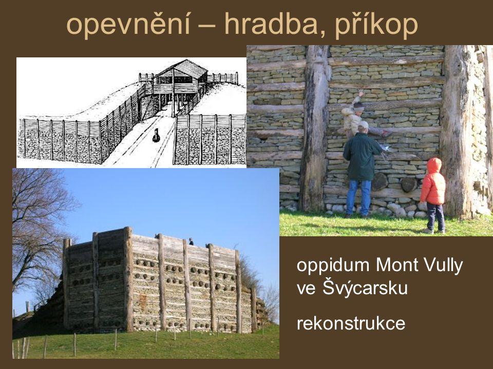 opevnění – hradba, příkop