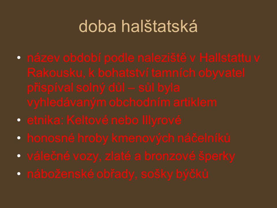doba halštatská