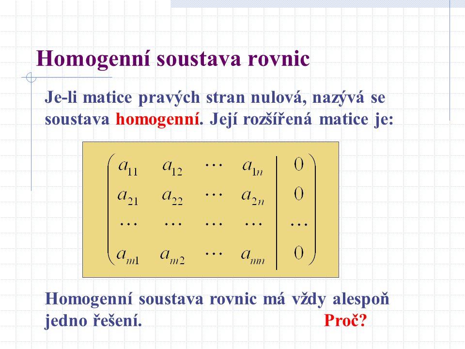 Homogenní soustava rovnic