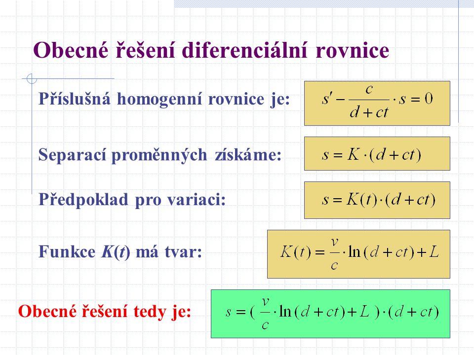 Obecné řešení diferenciální rovnice