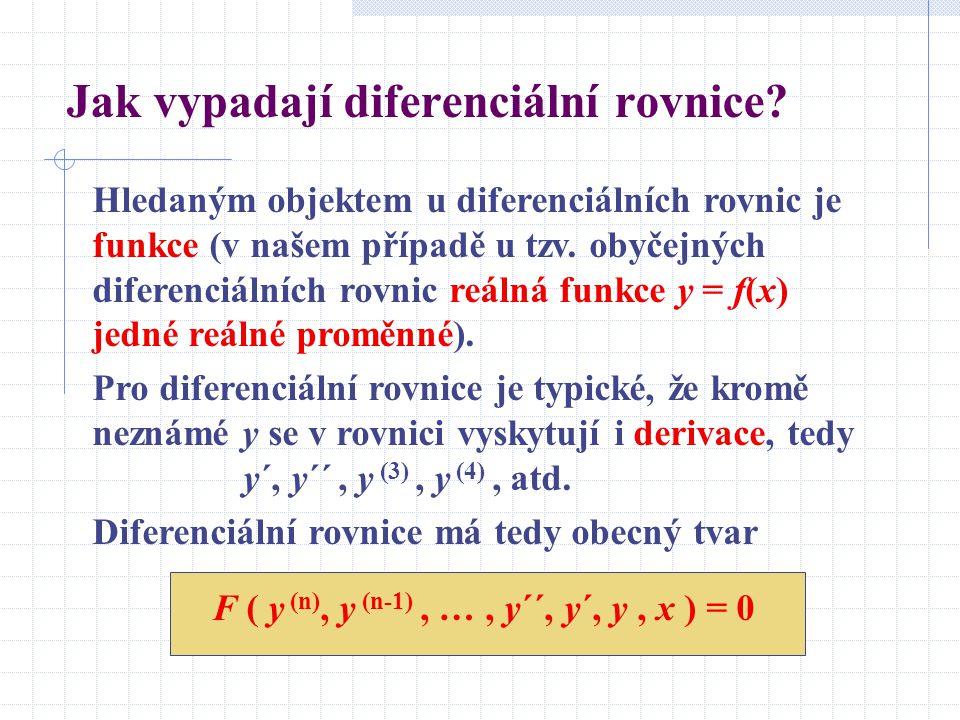 Jak vypadají diferenciální rovnice