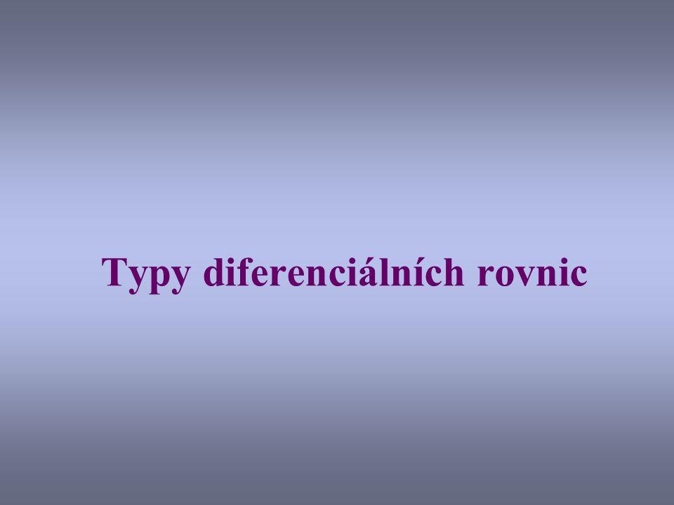 Typy diferenciálních rovnic