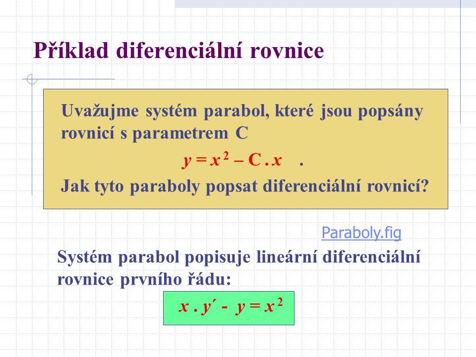 Příklad diferenciální rovnice