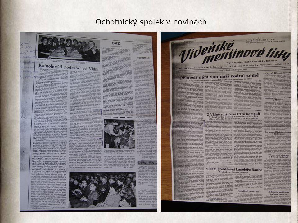 Ochotnický spolek v novinách