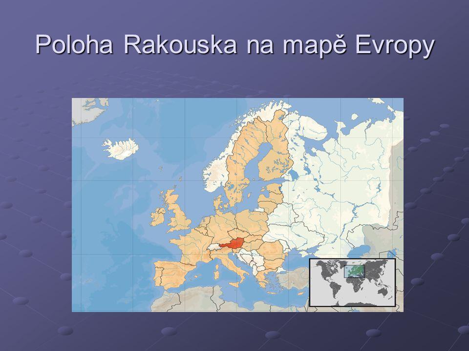 Poloha Rakouska na mapě Evropy