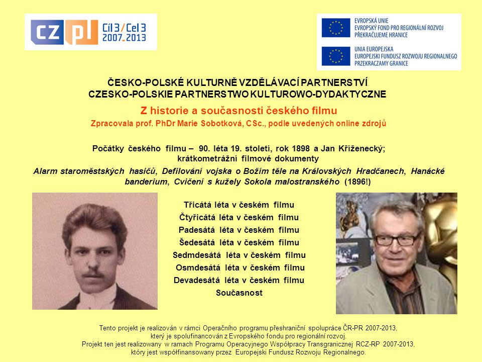 Z historie a současnosti českého filmu
