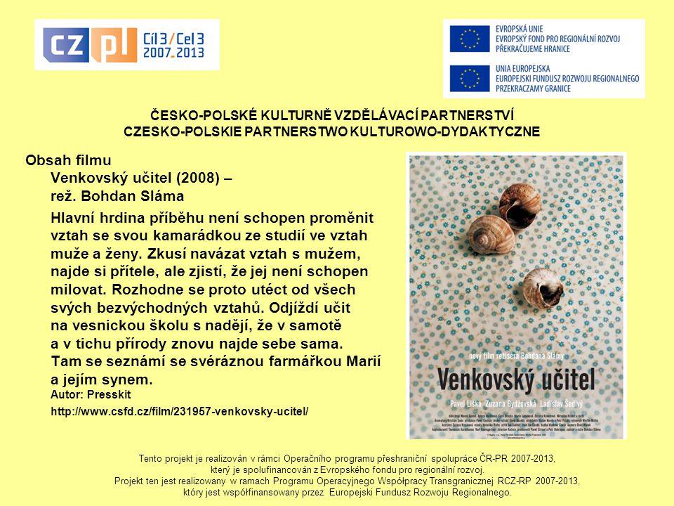 Obsah filmu Venkovský učitel (2008) – rež. Bohdan Sláma