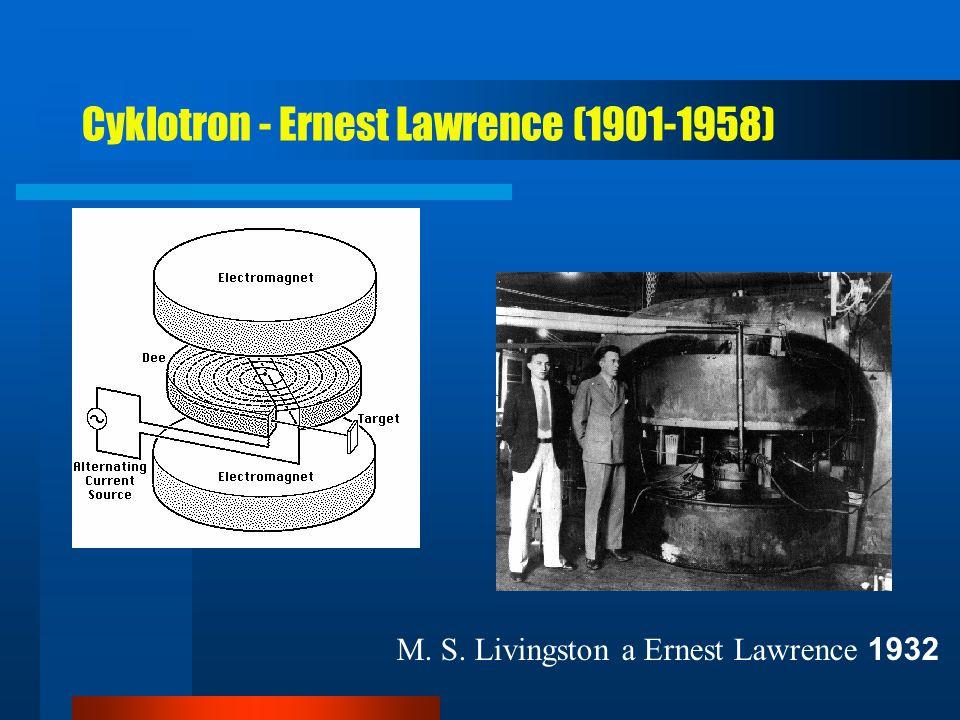 Cyklotron - Ernest Lawrence (1901-1958)