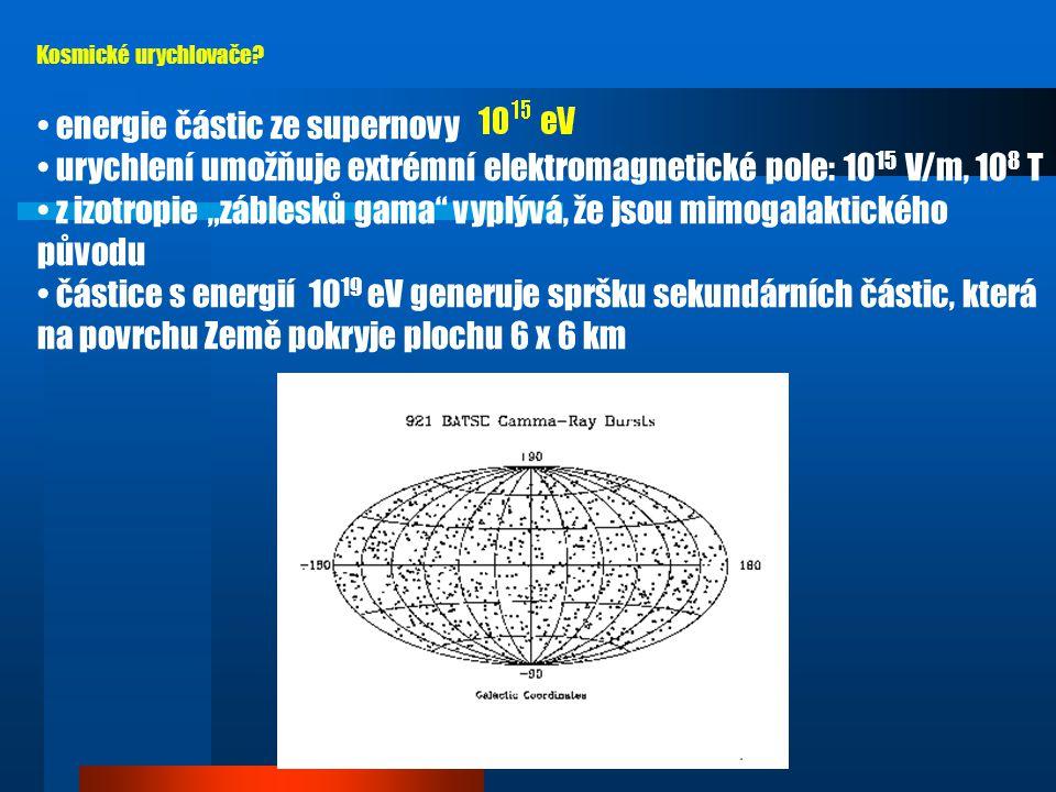 energie částic ze supernovy