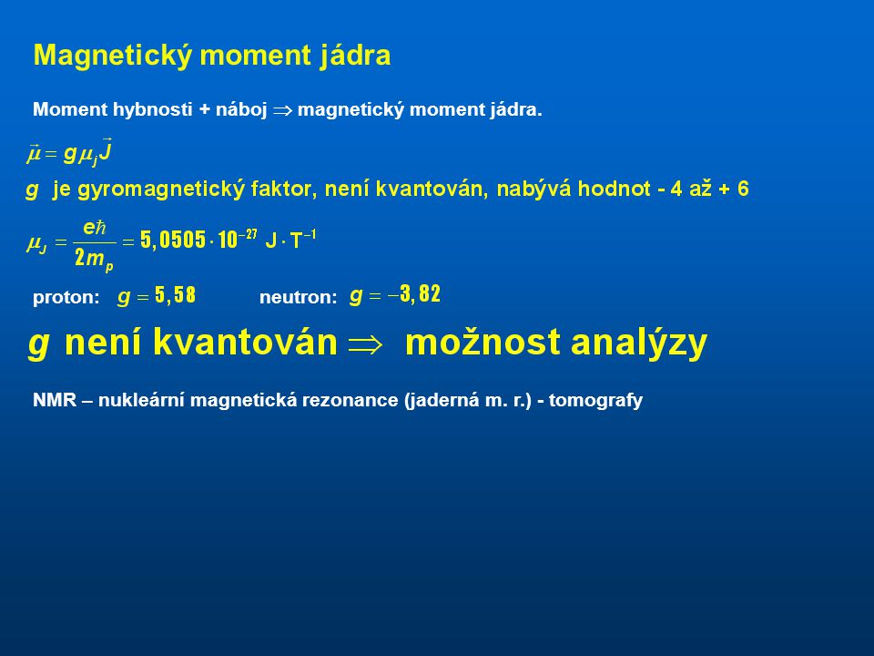 Magnetický moment jádra