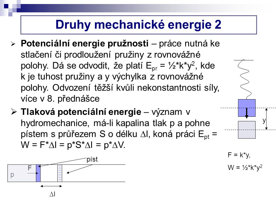 Druhy mechanické energie 2
