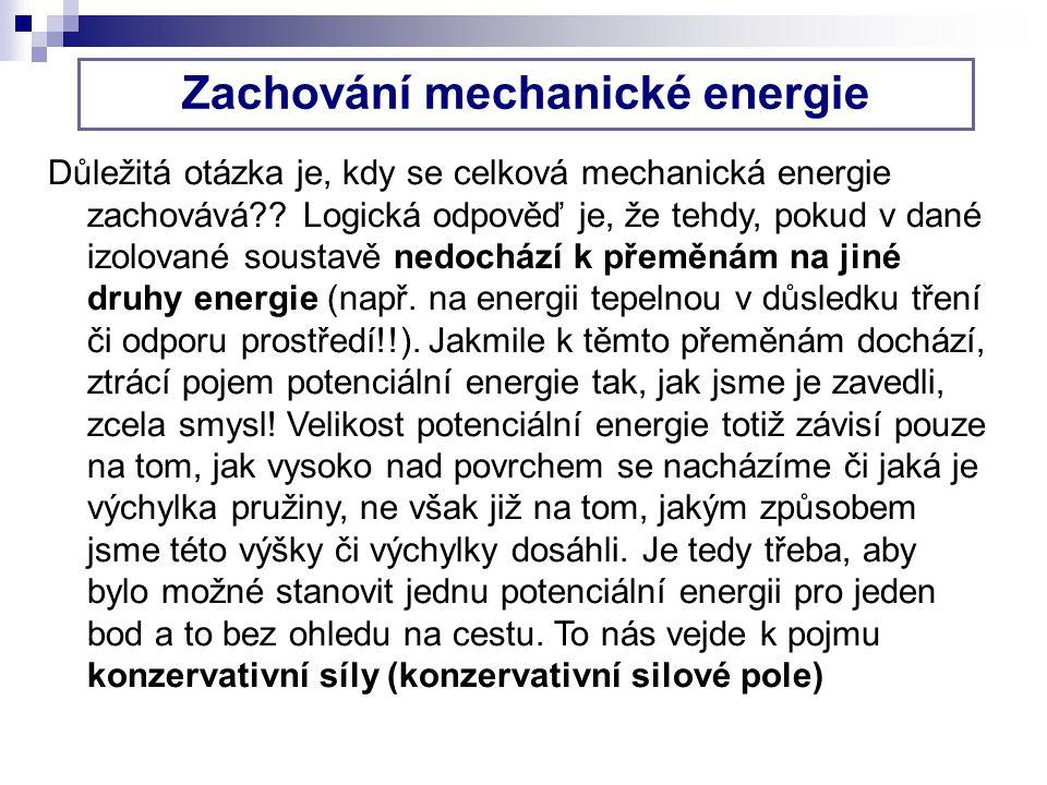 Zachování mechanické energie