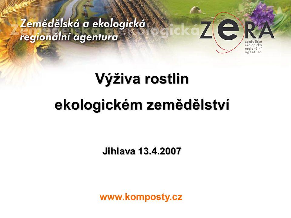 ekologickém zemědělství
