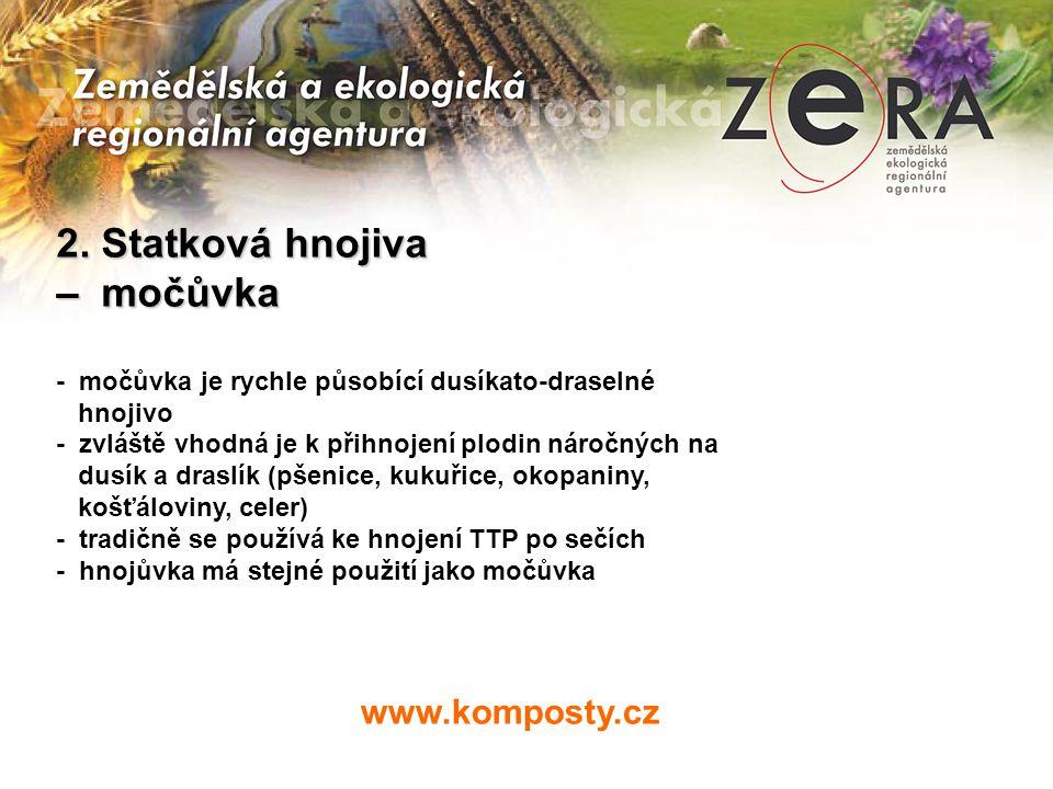2. Statková hnojiva – močůvka www.komposty.cz