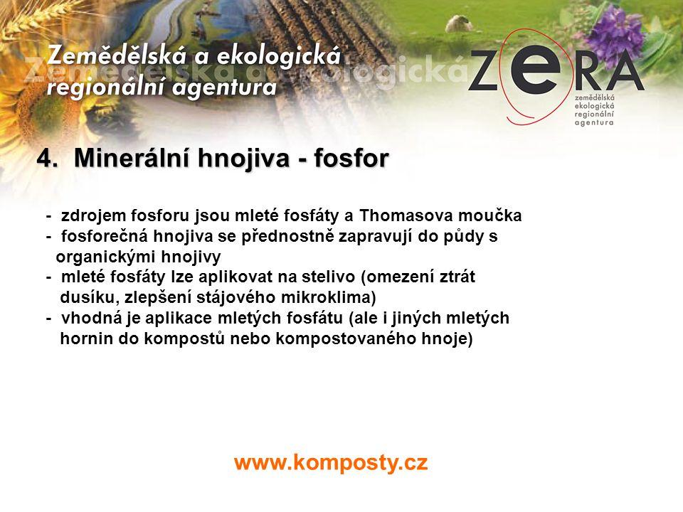 4. Minerální hnojiva - fosfor