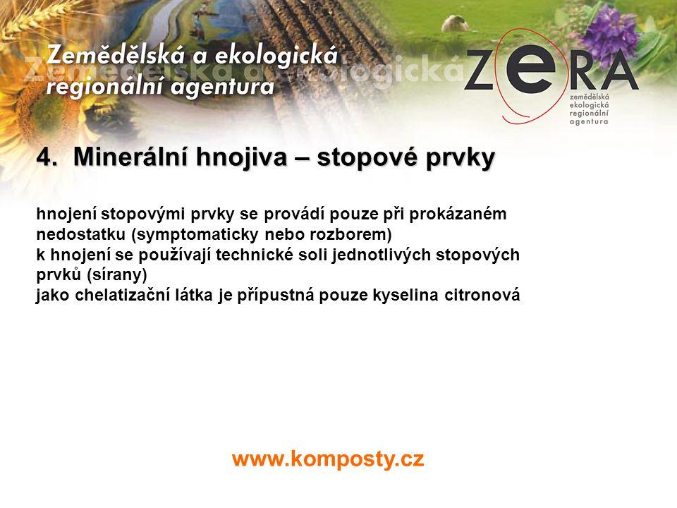 4. Minerální hnojiva – stopové prvky