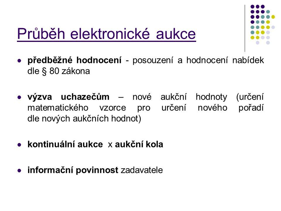 Průběh elektronické aukce