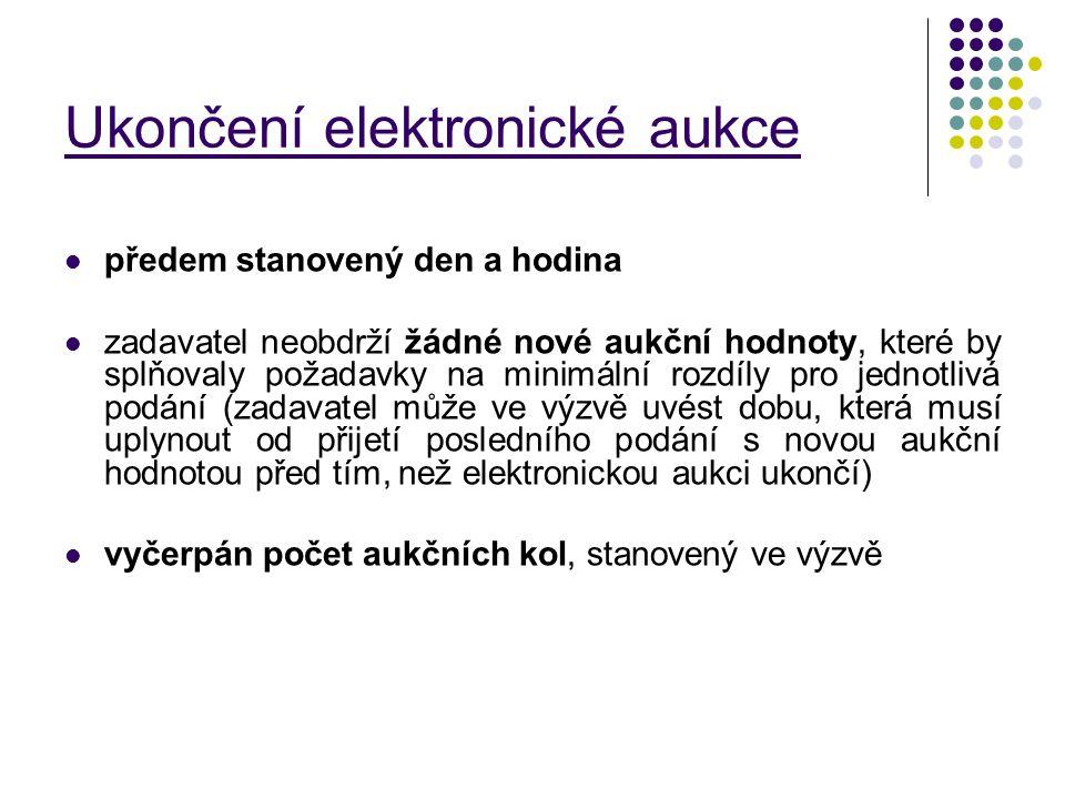 Ukončení elektronické aukce