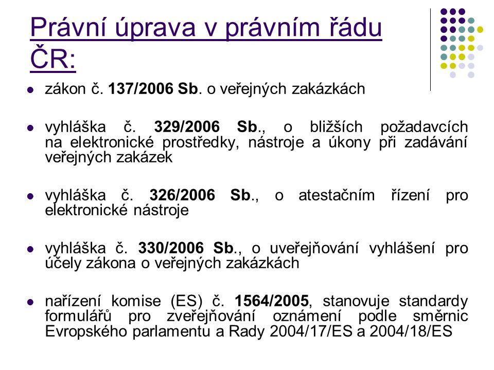 Právní úprava v právním řádu ČR: