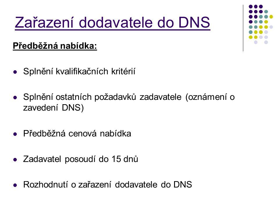 Zařazení dodavatele do DNS