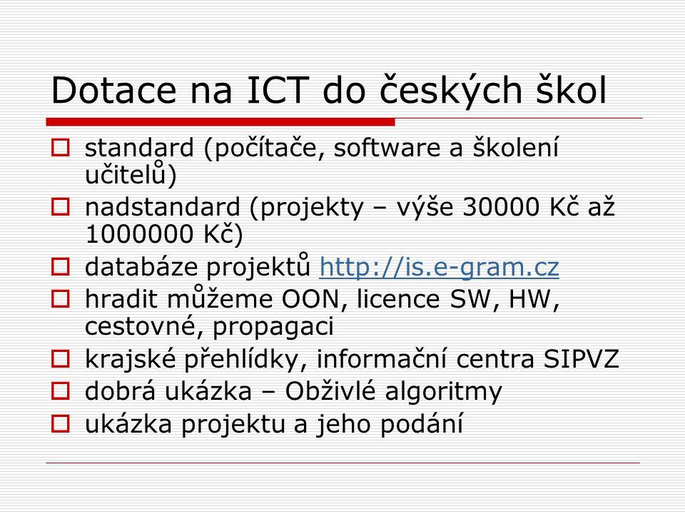 Dotace na ICT do českých škol