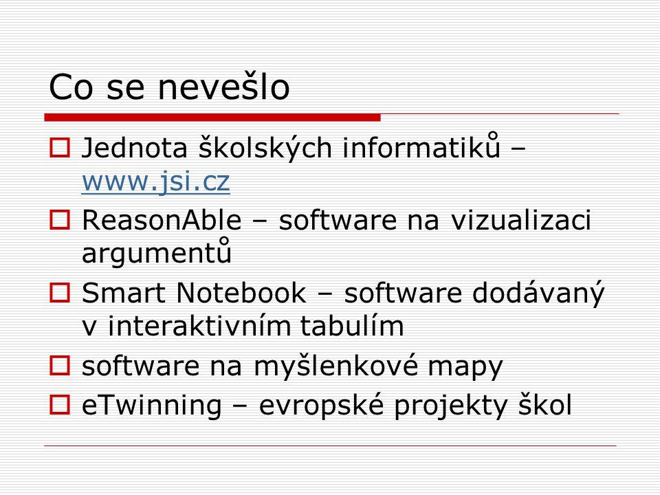 Co se nevešlo Jednota školských informatiků – www.jsi.cz