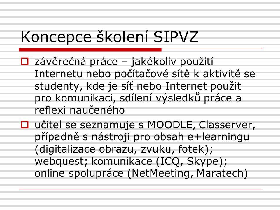 Koncepce školení SIPVZ