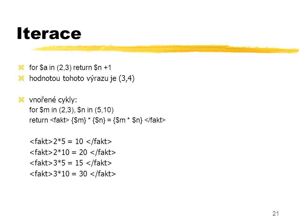 Iterace hodnotou tohoto výrazu je (3,4) vnořené cykly: