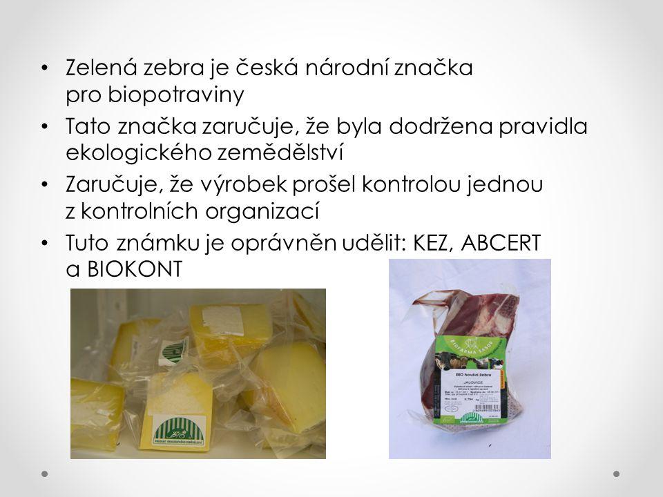 Zelená zebra je česká národní značka pro biopotraviny