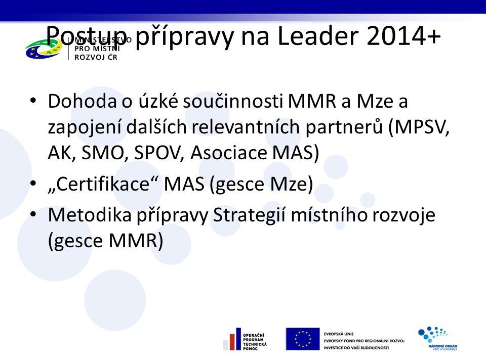 Postup přípravy na Leader 2014+