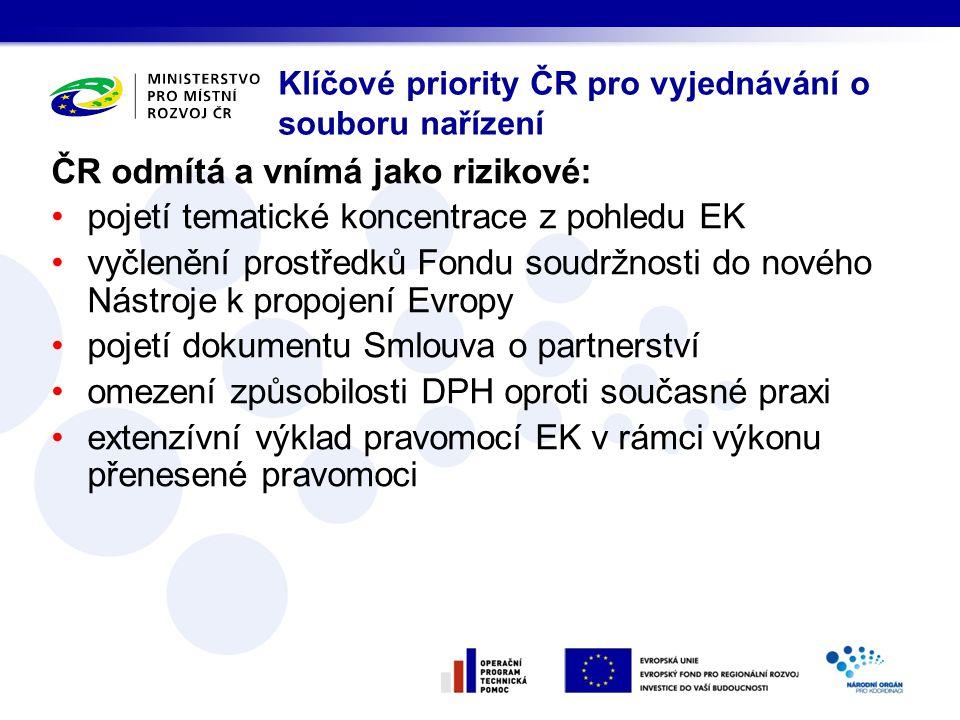 Klíčové priority ČR pro vyjednávání o souboru nařízení
