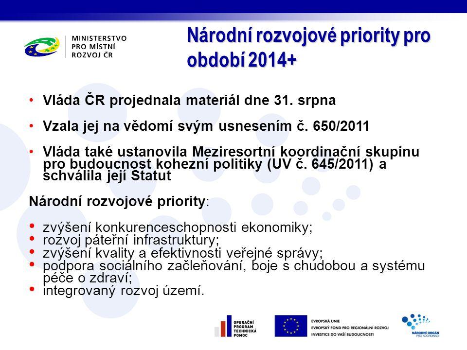 Národní rozvojové priority pro období 2014+
