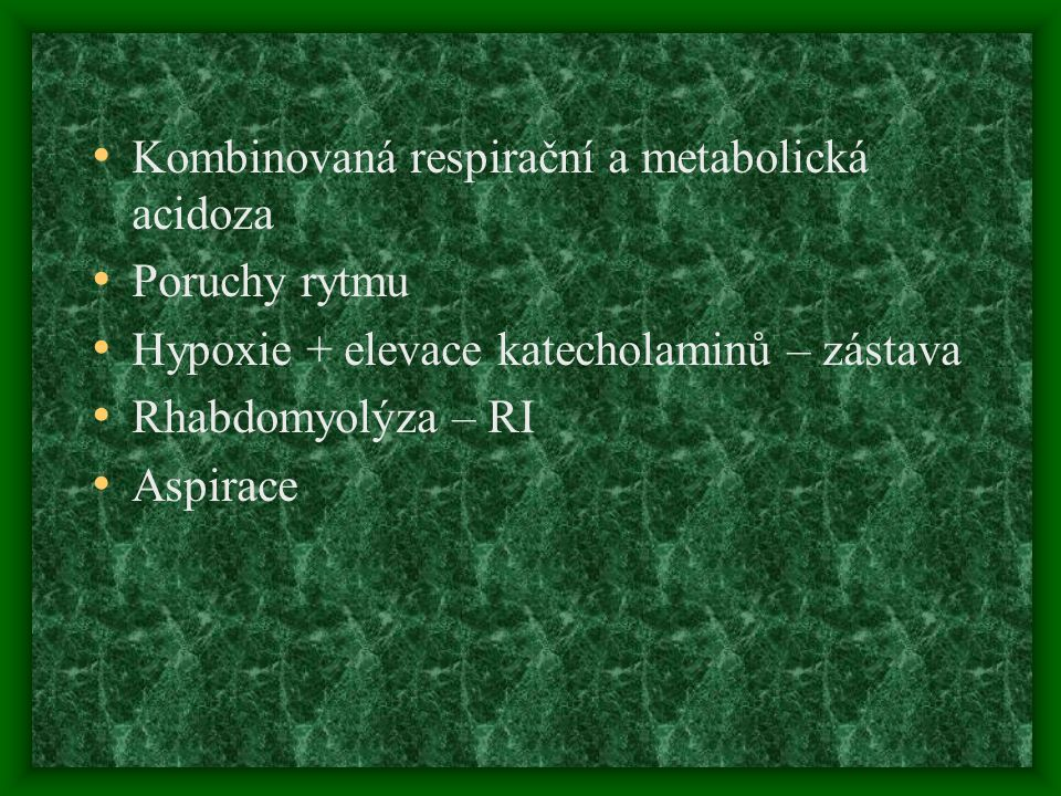 Kombinovaná respirační a metabolická acidoza