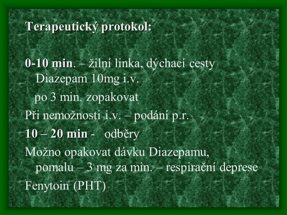 Terapeutický protokol: