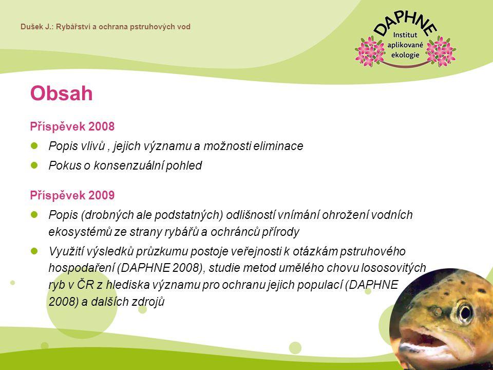 Obsah Příspěvek 2008 Popis vlivů , jejich významu a možnosti eliminace