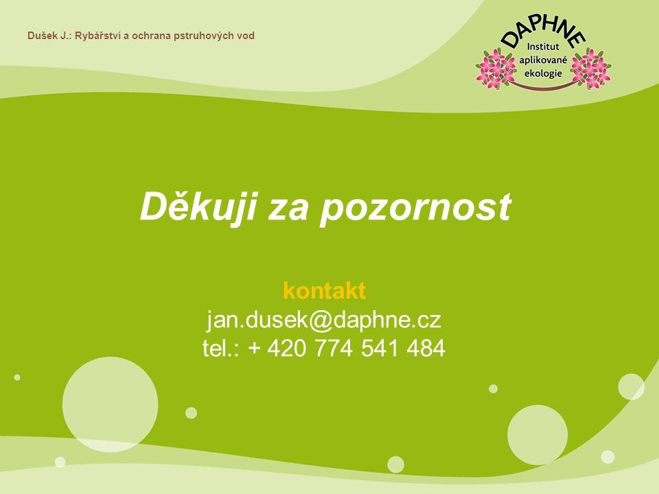 Děkuji za pozornost kontakt jan.dusek@daphne.cz
